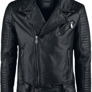 Black Premium By Emp Stitched Biker Jacket Takki