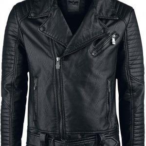 Black Premium By Emp Stitched Biker Jacket Takki