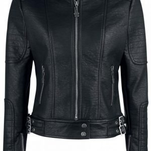 Black Premium By Emp Stitched Ladies Biker Jacket Naisten Biker Takki