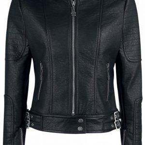 Black Premium By Emp Stitched Ladies Biker Jacket Naisten Biker Takki