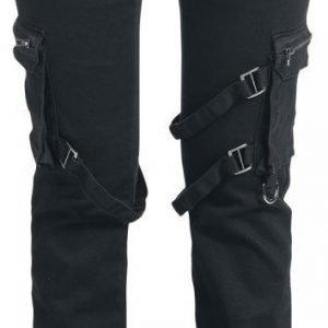 Black Premium By Emp Strap Pocket Straight Fit Naisten Kangashousut