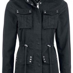 Black Premium By Emp Studded Biker Style Naisten Välikausitakki