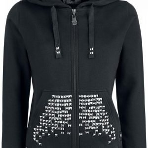 Black Premium By Emp Studded Hoodie Jacket Naisten Vetoketjuhuppari