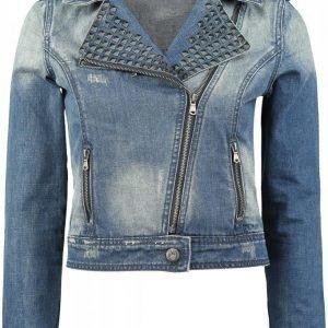 Black Premium By Emp Studded Jeans Jacket Naisten Farkkutakki