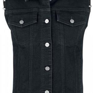 Black Premium By Emp Studded Vest Naisten Liivi