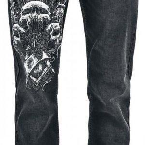 Black Premium By Emp Triple Skulls Johnny Boot Cut Farkut