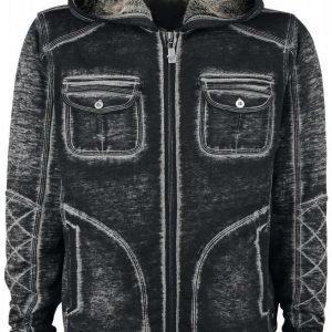 Black Premium By Emp Vintage Worker Hoodie Jacket Vetoketjuhuppari