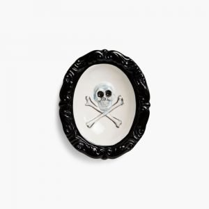 Black Scale Skull And Bones Ashtray
