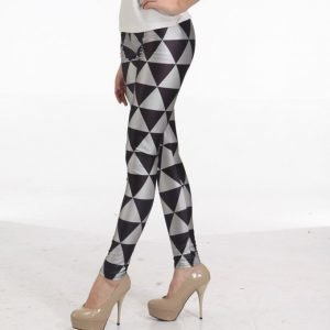 Black Silver Triangel Leggings Tights