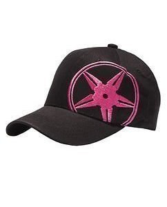 Black/Pink Star Cap