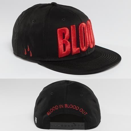Blood In Blood Out Snapback Lippis Musta