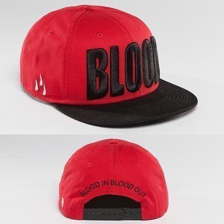 Blood In Blood Out Snapback Lippis Punainen