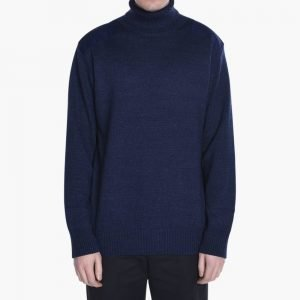 Blue Blue Japan Shoulder Patched Turtle Neck