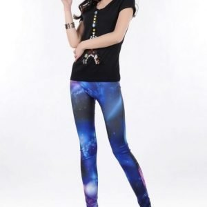 Blue Galaxy Leggings Tights