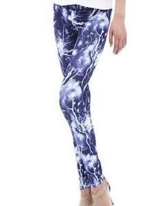 Blue Lightning Leggings Tights