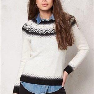 Boomerang Ockelbo Jaquard Sweater 002 Pannacotta