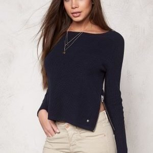 Boomerang Risbo Cropped Rib Sweater 808 Night Sky