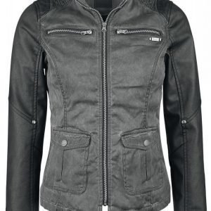 Brandit Cotton Pu Biker Jacket Naisten Keinonahkatakki