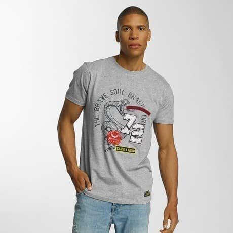 Brave Soul T-paita Harmaa