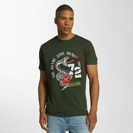 Brave Soul T-paita Khakiruskea