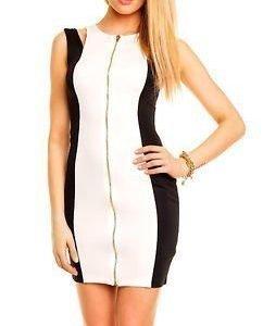 Brea Dress White/black
