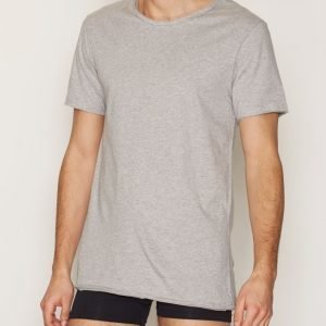 Bread & Boxers Crew Neck Relaxed T-shirt Loungewear Harmaa