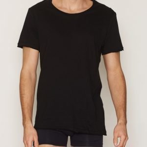 Bread & Boxers Crew Neck Relaxed T-shirt Loungewear Musta