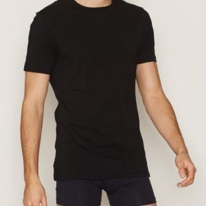Bread & Boxers Crew Neck T-shirt Loungewear Musta