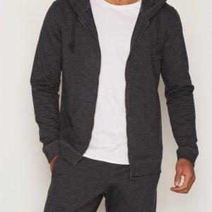 Bread & Boxers Hoodie Loungewear Dark Grey Melange