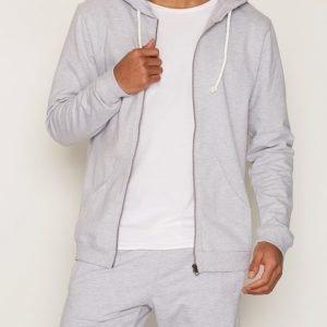 Bread & Boxers Hoodie Loungewear Grey Melange