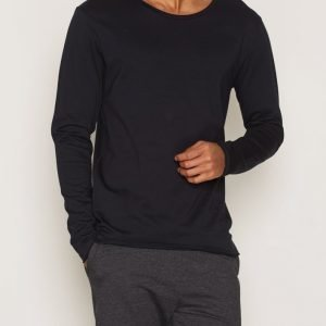 Bread & Boxers Long-Sleeve relaxed Loungewear Dark Navy