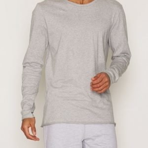 Bread & Boxers Long-Sleeve relaxed Loungewear Grey Melange