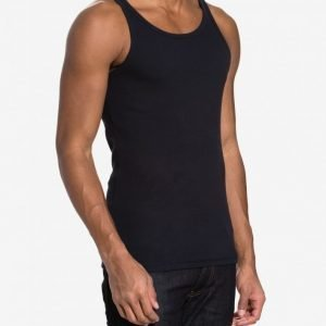 Bread & Boxers Ribbed Tank Top Loungewear Dark Navy