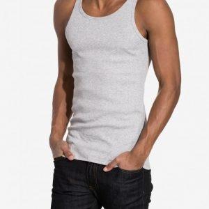 Bread & Boxers Ribbed Tank Top Loungewear Grey Melange