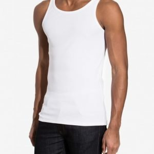 Bread & Boxers Ribbed Tank Top Loungewear Valkoinen