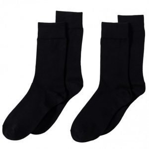 Bread & Boxers Socks 2-Pack Sukat Musta