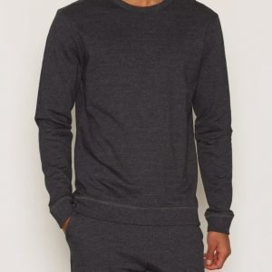 Bread & Boxers Sweatshirt Loungewear Dark Grey Melange