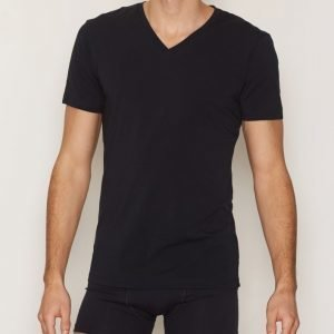 Bread & Boxers V Neck T-shirt Loungewear Dark Navy