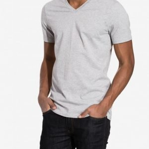 Bread & Boxers V Neck T-shirt Loungewear Grey Melange