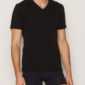 Bread & Boxers V Neck T-shirt Loungewear Musta