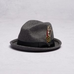 Brixton Gain Fedora Heather Grey