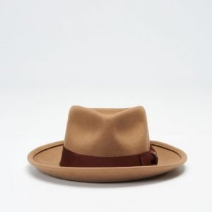 Brixton Swindle Fedora Dark Tan