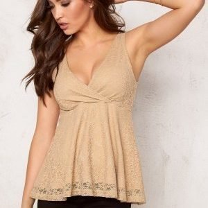Bubbleroom Roma peplum top Gold-coloured