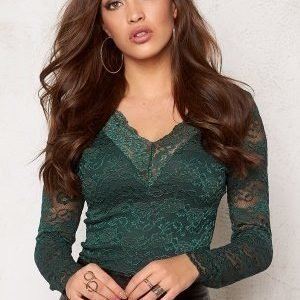 Bubbleroom Silverlake lace top Dark green