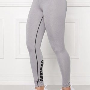 Bubbleroom Sport Conquer train tights Light grey melange