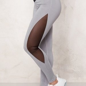 Bubbleroom Sport Resilient train tights Light grey melange