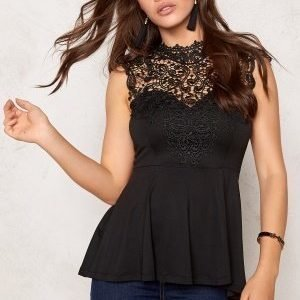 Bubbleroom Tamale peplum top Black