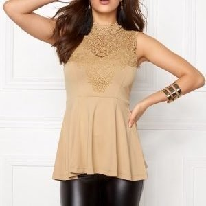 Bubbleroom Tamale peplum top Gold-coloured