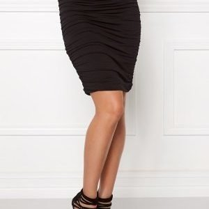 Bubbleroom Wrinkled skirt Black