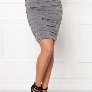 Bubbleroom Wrinkled skirt Grey melange